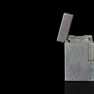WHITE METAL DUPONT LIGHTER K2BH9.currently working.