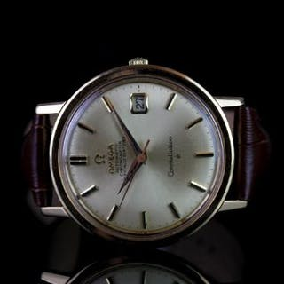 GENTLEMENS OMEGA CONSTELLATION 18CT GOLD AUTOMATIC WRISTWATCH REF.