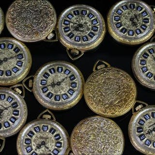 20X GOLD PLATED LUCERNE OPEN FACED POCKET WATCHES,round,gold dials