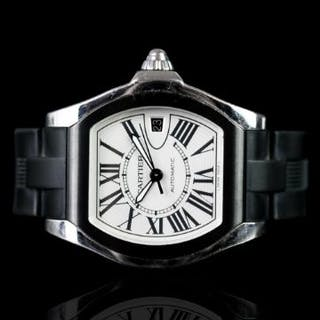 GENTLEMEN'S CARTIER ROADSTER AUTOMATIC WRISTWATCH W/ BOX & PAPERS