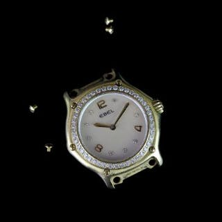 LADIES 18k EBEL 1911 REF E8090224 HEAD ONLY, round,white dial with