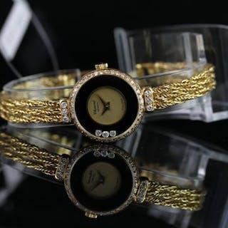LADIES CHOPARD HAPPY DIAMOND 18CT GOLD WRISTWATCH REF. 4045, circular