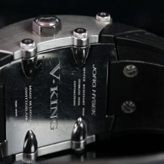 GENTLEMEN'S JORG HYSEK V-KING VK03-0498, oblong, black dial with silver