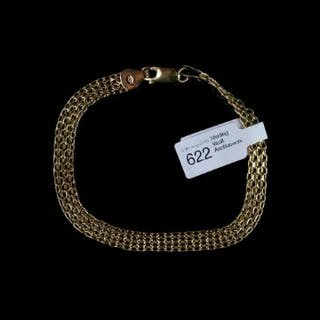 Multi link gold bracelet, hallmarked 9ct yellow gold, approximate