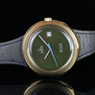 RARE VINTAGE OMEGA DE VILLE DYNAMIC AUTOMATIC, green dial, baton hour