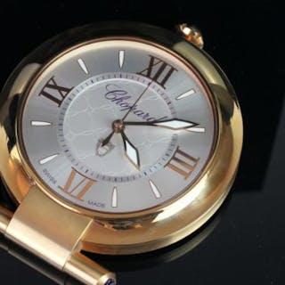CHOPARD PRESENTATION SET, DESK CLOCK AND PEN, travelling quartz alarm