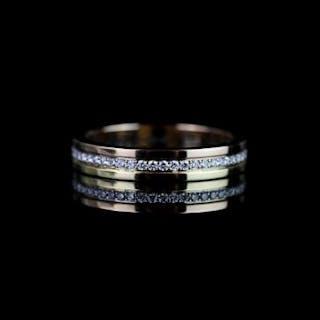 Cartier diamond set trinity eternity ring, set with 53 round brilliant