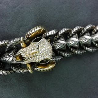 STEPHEN WEBSTER THORN COLLECTION RAMS HEAD BRACELET, 18ct yellow gold