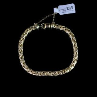 Rope style gold bracelet, hallmarked 9ct yellow gold, approximate