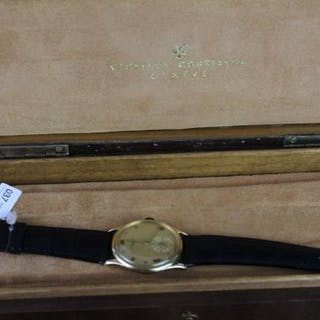 GENTLEMENS VACHERON & CONSTANTIN 18CT GOLD VINTAGE WRISTWATCH W/ BOX