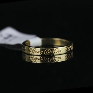 TIFFANY &CO 18K 727 5TH AVENUE ,NEW YORK RING 10022,stamped 750, total