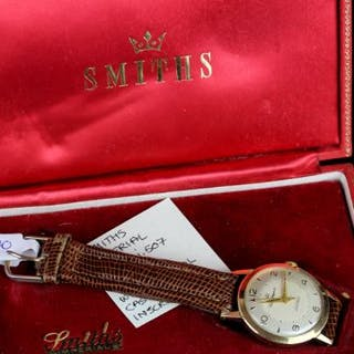 GENTLEMENS SMITHS IMPERIAL WRISTWATCH REF I.507 W/BOX CIRCA 1961