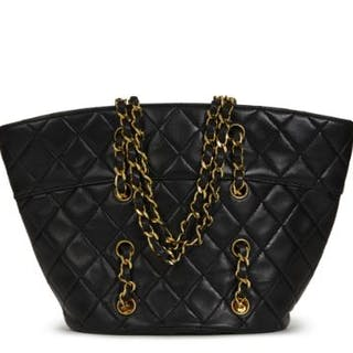 85cc60ea5b4 Chanel Black Quilted Lambskin Vintage Timeless Bucket Bag.