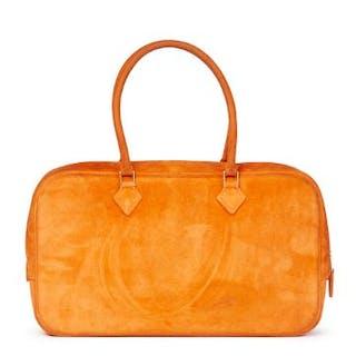 dffe6fa67ff Hermès Orange H Veau Doblis Plume Elan 28cm Serial.