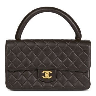48c889e95093 Chanel Chocolate Brown Quilted Lambskin Vintage Medium.