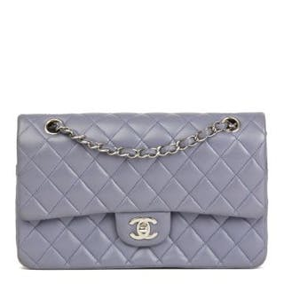9e670c6ddb80 Chanel Lilac Quilted Lambskin Medium Classic Double Flap.