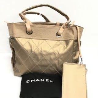 bae7073d0945 Chanel Paris Biarritz large gold tote Handbag in a.