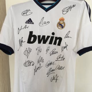 Multi Signed Real Madrid Anniversary Shirt  I bought this...