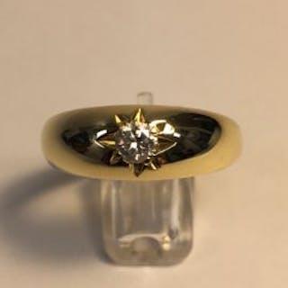 18ct Gents Victorian Diamond Ring  Gentlemen were not...