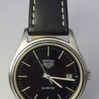 Rare Heuer Verona Quartz Date Watch  In good working...
