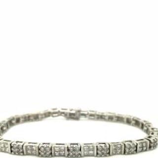 14ct White Gold 4.05ct Diamond Bracelet   New unworn...