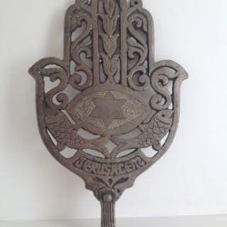 Antique Jewish Large Hamsa Talisman Pendant  Antique...