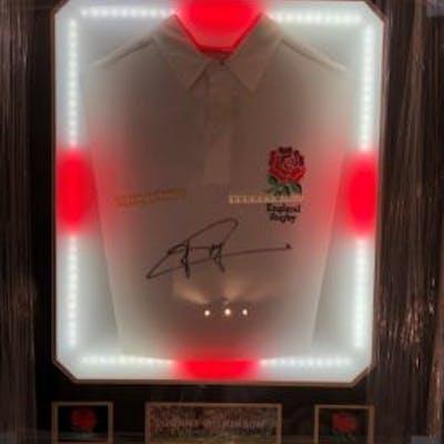 Jonny Wilkinson Hand Signed Shirt Framed With LED Lights...
