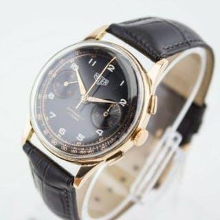Heuer 18ct Rose Gold Chronograph Mechanical Movement...