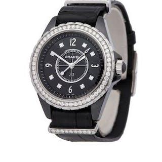 2018 Chanel J12 Diamond Ceramic - H4189  GENDER W SIZE...