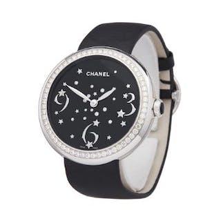 2018 Chanel Mademoiselle Prive Diamond 18k White Gold...