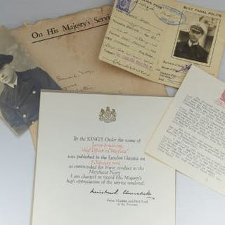 Good set of papers and photographs from WW2 with...