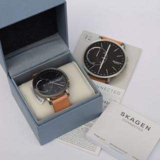 Skagen unisex hybrid smartwatch with round titanium case (diam
