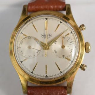 Gold plated Heuer chronograph in good working order
