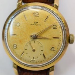 Vintage LIP Himalaya manual wind watch with sub seconds dial