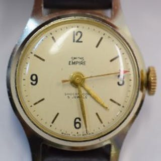 Vintage Smiths Empire manual wind wristwatch with GP case...