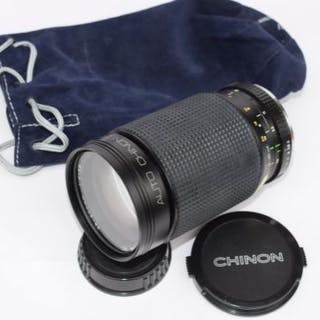 Chinon Lens 35-200mm in black leatherette case...