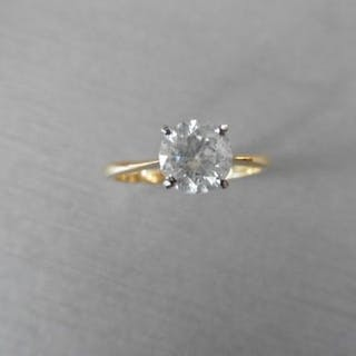 1.24ct diamond solitaire ring with a brilliant cut diamond