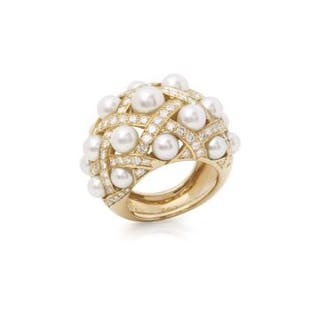 Brand: Chanel Description: 18k Yellow Gold Cultured Pearl...