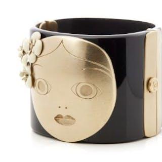 Brand: Chanel Description: Black & Gold Tone Paris-Moscou...