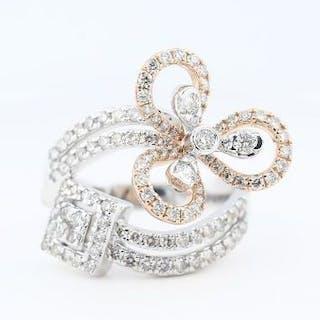IGI Certified 18 K / 750 Designer Diamond Ring 18 K / 750...