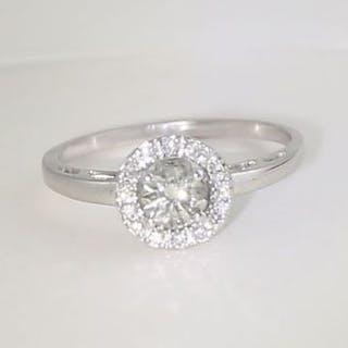 14 K White Gold Solitaire Diamond Ring 14 K Hallmarked...