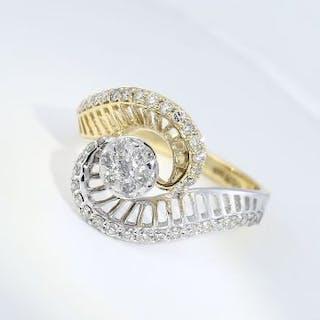 IGI Certified 18 K / 750 Yellow gold Designer Diamond...