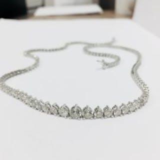 6.50ct Diamond tennis style necklace