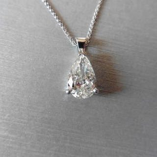 0.70ct natural Pearshape diamond si clarity I colour top...