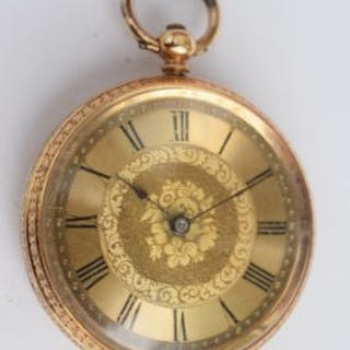 In good working order is this 18ct gold pocket watch...