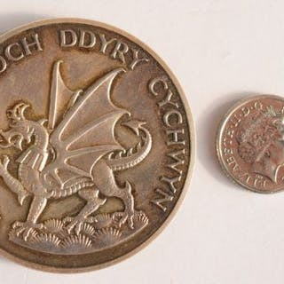 Y Ddraig Goch - Red Dragon Investisure silver coin dated...