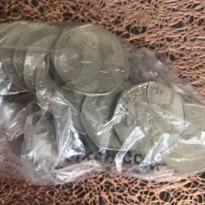 £10 Worth of Random Set of capsuled collectable 50p coins...
