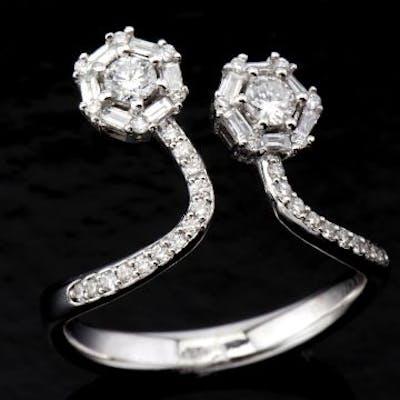 Type: Ring Gender: Women Material: White gold Material Fineness: 14 kt
