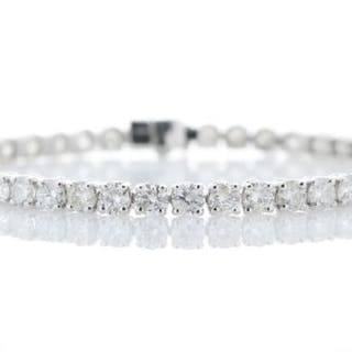 18ct White Gold Tennis Diamond Bracelet 9.03 Unworn As New Carats