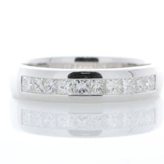 18ct White Gold Diamond Channel Set Half Eternity Ring 0.50 Unworn As New Carats